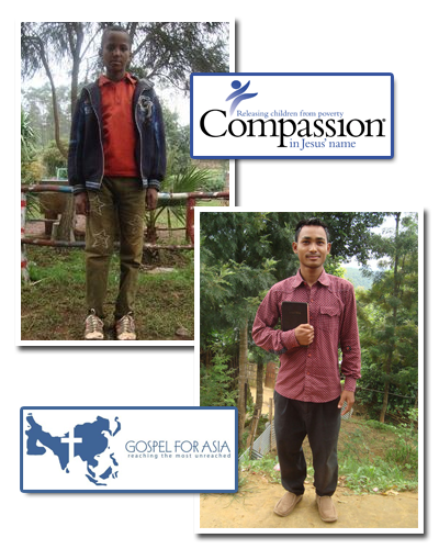 Lighten Up Gear supports Compassion International and Gospel For Asia (GFA)
