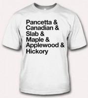 Bacon T-Shirt Wonderland: Bacon Types