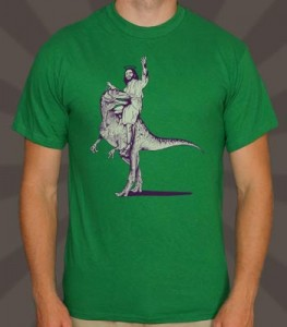 Jesus Riding a T-Rex by 6 Dollar Shirts