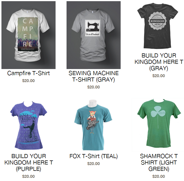 Rend Collective Experiment T-Shirts