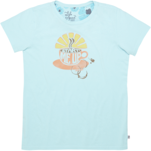 "Life Is Good offers this cute women's tee called ""Start Me Up"" for $32."