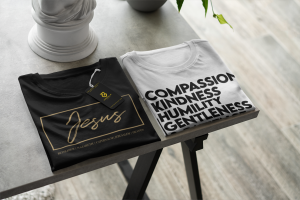 Jesus and Colossians 3:12 t-shirts