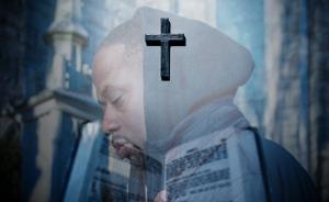 Moosh Da Street Preacher, the cross and the Bible